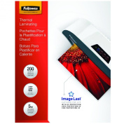 Fellowes 5-Mil Letter ImageLast Glossy Laminating Pouches, 200 Pack