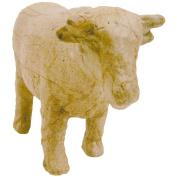 Paper Mache Figurine 11cm -Cow