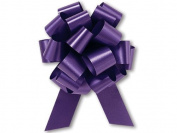 Purple Flora Satin 14cm Pull Bows - 20 Loops 25/pkg