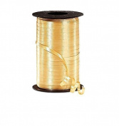 Ribbons - Curling Ribbon- 0.5cm - 500 YARDS (460m) - Gold - Birthday Party/Craft/Wedding Favours