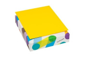 Mohawk BriteHue 11kg/60 Vellum Text Paper, 22cm x 28cm , 500 Sheets/Ream - Sold as 1 Ream, Sun Yellow