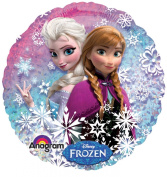 Disney's Frozen Standard Holographic Balloon Pack of 10 PLUS 4 Sheets of Frozen Stickers Bonus