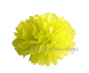 LolaSaturdays Paper Pom Poms 3 Sizes 6 Pack Yellow