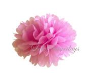 LolaSaturdays Paper Pom Poms 3 Sizes 6 Pack Pink