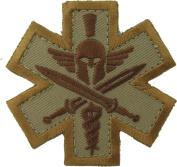 Tactical Medic Spartan Morale Patch (Desert