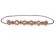 Native American Pattern Elastic Stretch Seed Bead/ Fabric/ Lace/ Crystal Hair Accessories