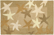 Jellybean 50cm x 80cm Accent Rug Starfish Field with Memory Foam Nautical