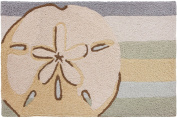Jellybean 50cm x 80cm Accent Rug Sanddollar with Memory Foam Nautical