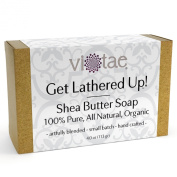 SHEA BUTTER SOAP - 100% Pure, All Natural, Certified Organic Aromatherapy Herbal Bar Soap