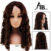 Trend Blonde curly half baby wigs dark brown Style 5689