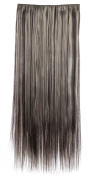 SR Women's Long Straight 1Pc Clip In Hair Extension Japan Heat Resistant Fibre Synthetic Hair 666 10 Colours Available