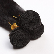BHD-Real Remy 6A 300g 3 Bundles Unprocessed Brazilian Virgin Hair Weft Hair Extension Straight Natural Black