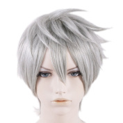 Xcoser Fmaous Film The Guardians Jack Frost Cosplay Short Silver Grey Wig
