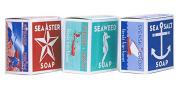 Swedish Dream 3 Pack Mix Set (Sea Salt + Seaweed + Sea Aster) Soap Bar 130ml USA
