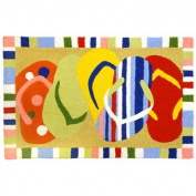 Multi-Coloured Sandals Flip Flops JellyBean Accent Rug