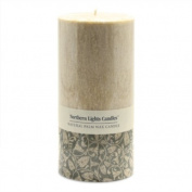 Northern Lights Candles - Natural Palm Wax 3x6 Pillar - Sandalwood Spice