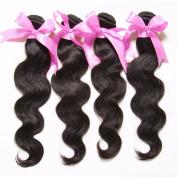 A & J (TM) 20cm ~80cm Brazilian Virgin Human Hair Extension Body Wave, 3-Pack (Multiple Choices) Bundle,300g Total (100g each), 6A Grade Natural Colour