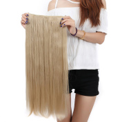 """Elegant 30""""(76cm) Longest Straight Ash Blonde 3/4 Full Head One Piece 5 Clips Clip in Hair Extensions Sexy Lady Fashion Choice Quality Guarantee"""