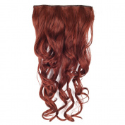 YESURPRISE New 70cm Synthetic Fibre 3/4 Full Head Body Wave Wavy Curly Clip in Hairpiece Hair Extensions 150g #35 With Clips