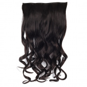 YESURPRISE New 70cm Synthetic Fibre 3/4 Full Head Body Wave Wavy Curly Clip in Hairpiece Hair Extensions 150g #4 With Clips