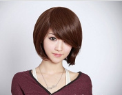 Simpleyourstyle Short Bob Natural Black Brown Head Women Wig for Mothers' Day Daily Wear Party Hair Rose Network Lace Wigsdark Brown Wig