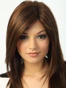 M4U Womens Brown Medium Straight Synthetic Fashion Woman's Medium Wig