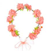 Valdler Flower Wreath Headband Floral Crown Garland Halo for Wedding Festivals