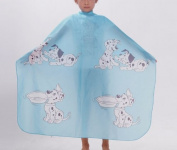 Hiliss 120cm x 80cm Child Kid Hair Cutting Cape Barber Styling Salon Waterproof Capes Cartton Dogs Blue