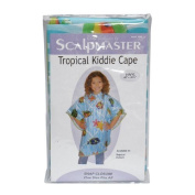 Scalpmaster 90cm x 110cm Child Vinyl Hair Cutting / Shampoo Cape with Snap Closure - Tropical Pattern