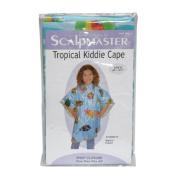 Scalpmaster 90cm x 110cm Child Vinyl Hair Cutting / Shampoo Cape with Snap Closure - Tropical Pattern