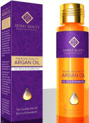 Argan Oil for Hair Growth and Prevention of Hair Loss by Desert Beauty Provides Conditioning and Anti-Ageing Properties (120 ML / 4 OZ) A Unique, One-of-a-Kind Premium Moroccan Oil Formula Giving your Hair the Ultimate Treatment!