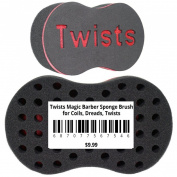 Twists Magic Barber Sponge Brush for Coils, Dreads, Twists