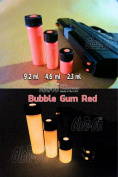 """GLOW-ON RED """"Bubble Gum Red"""" Colour, Super Phosphorescent Gun Sights Paint. Small 2.3 ml vial"""