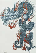 GGSELL GGSELL hot selling extra large new design big size 20cm x 22cm waterproof dragon temporary tattoo sticker for should""