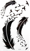 GGSELL GGSELL KING HORSE New design Goose and feather temporary tattoo stckers