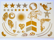 Gold & Silver Metallic Temporary Bling Tattoos By Divine Planet