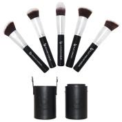 Kabuki Makeup Brush Set with BONUS Travel Brush Holder