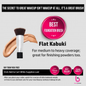 Beauty Junkees Flat Kabuki Foundation Makeup Brush