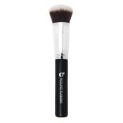 Mineral Powder Foundation Makeup Brush Round Top Kabuki - Premium Synthetic Bristles