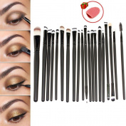 E2shop® 20 Pcs Cosmetic Makeup Brushes Set Eyeshadow Lip Brush for Girls