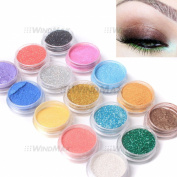 Amazing Gift! USPS Shipping! 15 Warm Colour Glitter Shimmer Pearl Loose Eyeshadow Eyeliner Pigments Mineral Eye Shadow Dust Powder Makeup Party Cosmetic Set #A