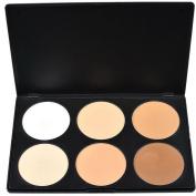 Outop Professional 6 Colours Contour Face Powder Makeup Blush Palette