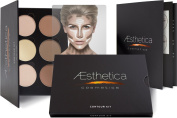 Aesthetica Cosmetics Contour and Highlighting Powder Foundation Palette / Contouring Makeup Kit; Easy-to-Follow, Step-by-Step Instructions Included
