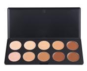 Easy lifestyles Pro Mixed 10 Colour Cream Concealer Palette Foundation Makeup Set Cover Speckled Freckle Face Contouring Kit