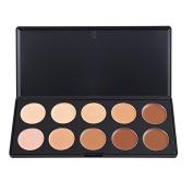 Easy lifestyles Professional 10 Warm Colours Concealer Camouflage Foundation Makeup Contour Palette Face Contouring Kit