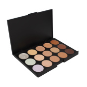 Goege Pro 15 Colour Cream Concealer Palette Foundation Makeup Set Cover Speckled Freckle Face Contouring Kit