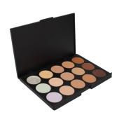 Goege Pro 15 Colour Cream Concealer Palette Foundation Makeup Set Cover Speckled Freckle Face Contouring Kit