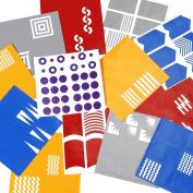 BMC Super Cute Simple Nail Vinyl 13pc Mixed Pattern Manicure Art Sticker Bundle - Super Sized Collector's Set