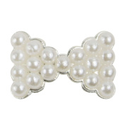 350buy® Special White Pearl Bow Tie 10 pieces 3D Alloy Nail Art Slices DIY Decorations
