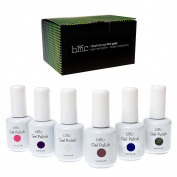 BMC 6pc Colour Gel Nail Art Polish UV LED Light Manicure Collection Set - BASICS, Stuck On You Like Gelly Collection